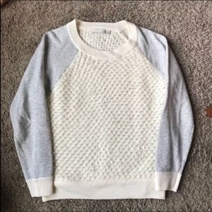 [Townsen] Ivory and Wool Textured Sweater